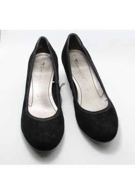 туфли на танкетке Tamaris 1-22320-20 Black Suede